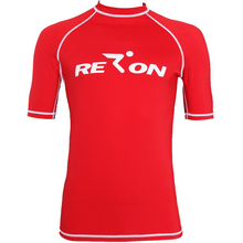REALON Short Sleeves Rash guards Men's Swim Shirt Surfing Top Vest Surfing Rashguards Swim Clothes Beach Wear Men and Women