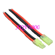 RC Pair Male + Female Tamiya Mini Battery Connector 14awg 10cm Wire(China)