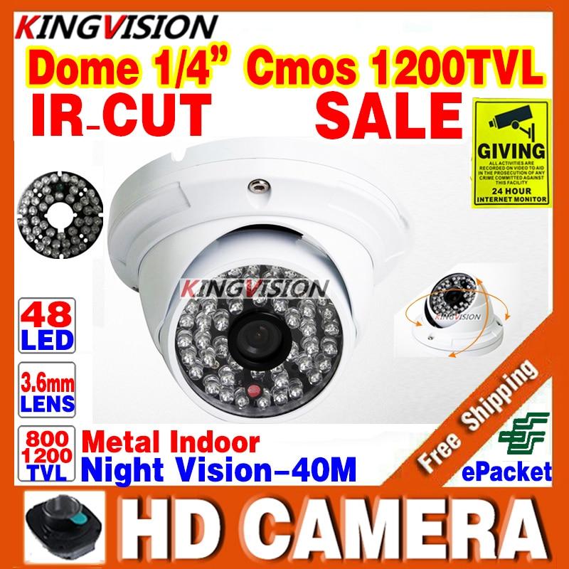 Metal 1/3cmos 1200TVL IR-CUT 48LED Color hd CCTV dome Camera ahdl Security Indoor Outdoor Surveillance Night Vision Home Video<br><br>Aliexpress