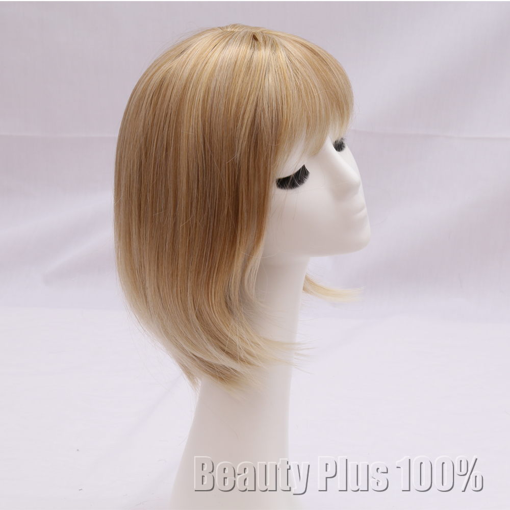 European Style Wig blond  Modern Cool Gold Short Hair Wig for Female Synthetic Wig for Cosplay MIx Brown &amp; Blonde wig for women <br><br>Aliexpress