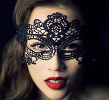 2016 New Girls Women Sexy Ball Lace Mask Catwoman Masquerade Dancing Party Eye Mask Cat Halloween Fancy Dress Costume(China)