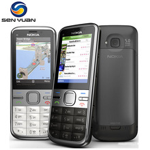 C5 Original Unlocked Nokia C5-00 cell phone GSM 3G 3.15MP Camera FM GPS Bluetooth cheap nokia phone