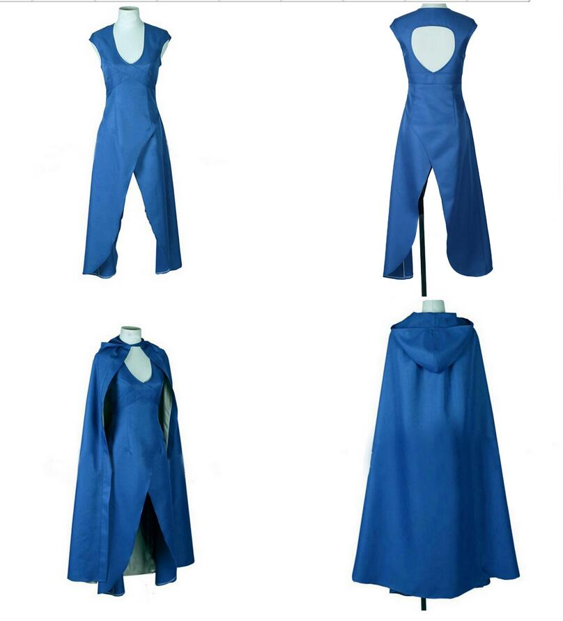 Game of Thrones Daenerys Targaryen cosplay party Dress women Halloween Costume part
