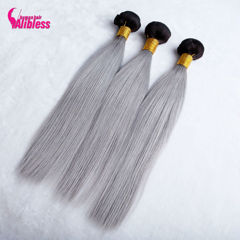 8A Ombre Grey Hair Weave,Gray Peruvian Straight Virgin Hair Ombre Human Hair Weave Bundles,8A Ombre Grey Human Hair Extensions<br><br>Aliexpress