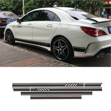 Matte Black Edition 1 Style Stripe Top Roof Bonet Side Skirt Decal Sticker for Mercedes Benz W117 C117 X117 CLA AMG(China)