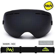 NANDN Men Women Snowboard Sports Ski Goggles Double Lens Anti-fog Professional Ski Glasses NG3 Exchengeable Lens Big Spherical