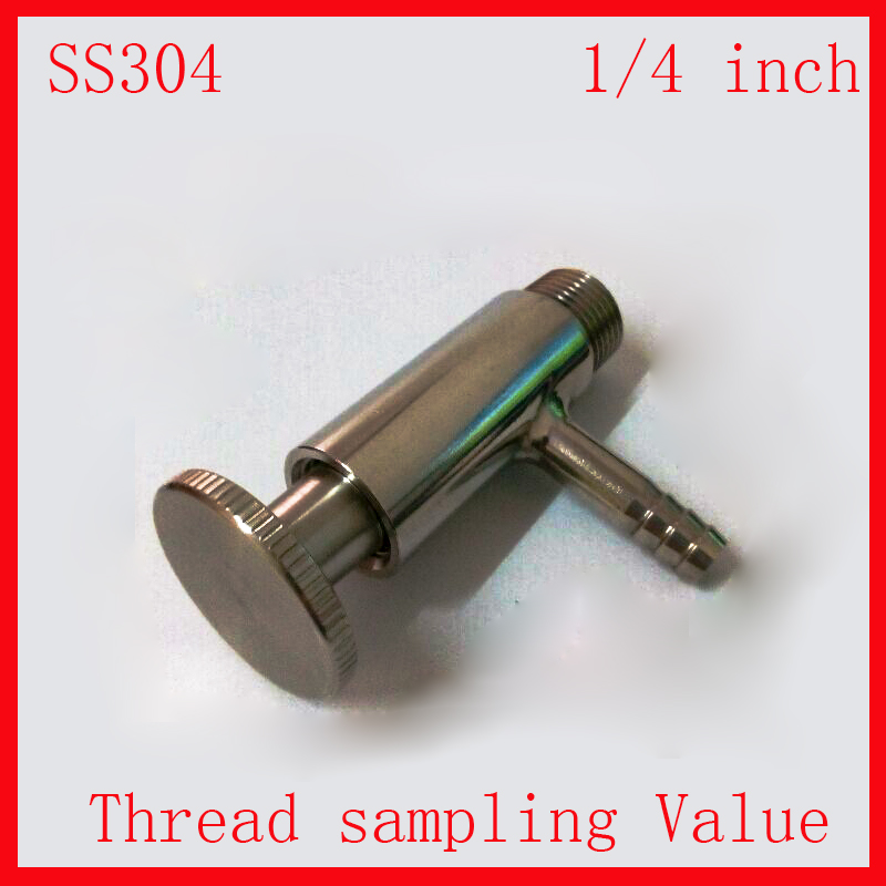 1/4 SS 304 Stainless Steel sanitary food medicine sampling sterility valve  Thead  male end<br><br>Aliexpress