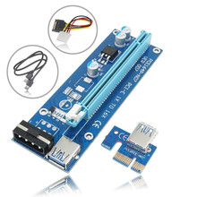 USB 3.0 PCI-E PCI E Express Riser Card 1x to 16x Data Cable 60cm SATA 15Pin Power Cable for BTC Miner Machine bitcoin mining(China)
