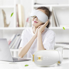 Wireless Electric Eyes Massager Infrared Heating Therapy Air Pressure Music Eye SPA Glasses Head Stress Relief Eyes Care Device(China)
