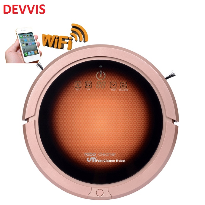 WIFI Smartphone App Control Wet And Dry Multifunctional Mini Vacuum Cleaner Robot For Home 150ml Water Tank,3350mah lithium(China)