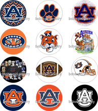 NCAA auburn FOOTBALL galss Snap button Jewelry Charm Popper for Snap Jewelry  12pcs / lot   for BOYS Gl444  BOBOSGIRL