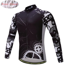 Buy CYCEARTH 2017 Thermal Fleece Cycling Jersey Winter Long Clothes Bicycle Clothing Bike Warm Maillot CEFJ009 for $19.79 in AliExpress store