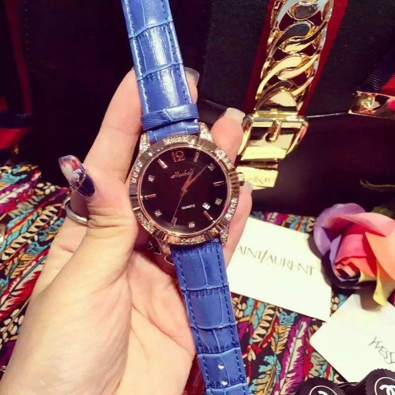 Top Brand Ladies Luxury Quartz Sport Rose Gold Women Watch Genuine Leather Wristwatch Relogio Feminino relojes mujer 2016<br>