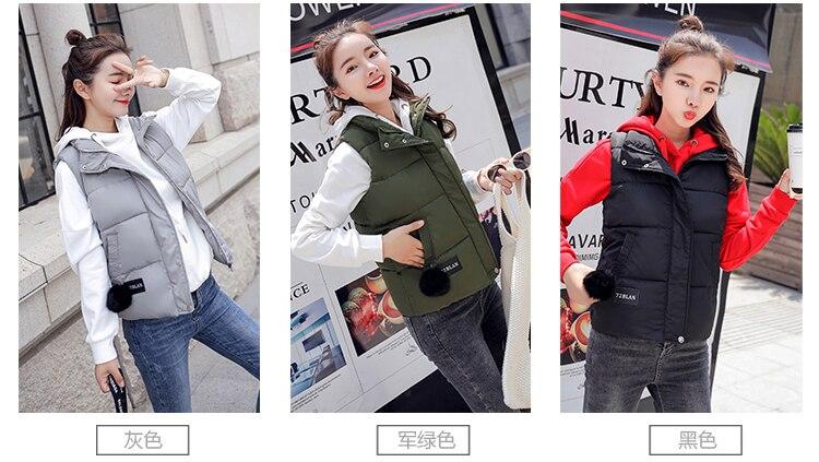 NIJIUDING M-XXXL 2018 New Parka Spring Autumn Slim Velvet Women Vest Jacket Warm Cotton-padded Winter Plus Size Waistcoat female (3)
