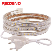 120leds/m 100m SMD 3014 led strip 220V 240v 1m 2m 3m 4m 5m 10m 15m 20m 25m 50m Power plug waterproof led lights Free shipping(China)