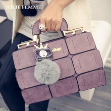 JOLIE FEMME Women Patchwork Boston Tote Bags Inclined Shoulder Ladies Hand Bags For Women PU Leather Handbags Famous Brand Mujer
