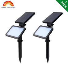 2PCS XINREE SL-50C 48LED Super Bright Dual-use Solar Flood Light Street Light Lawn Light Wall Lamp for Outdoor Path Garden