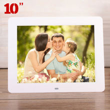 "10.0"" HD 10inch High Resolution Digital Photo Picture Frame Alarm Clock MP3 MP4 Movie Ads Player Menu Controller Christmas Gift"