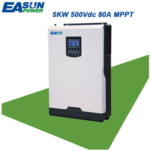 EASUN POWER 4000W 500Vdc Solar Inverter Input 80A MPPT 48V 220V Off Grid Inverter 5Kva Hybrid Inverter Pure Sine Wave Inverter(China)