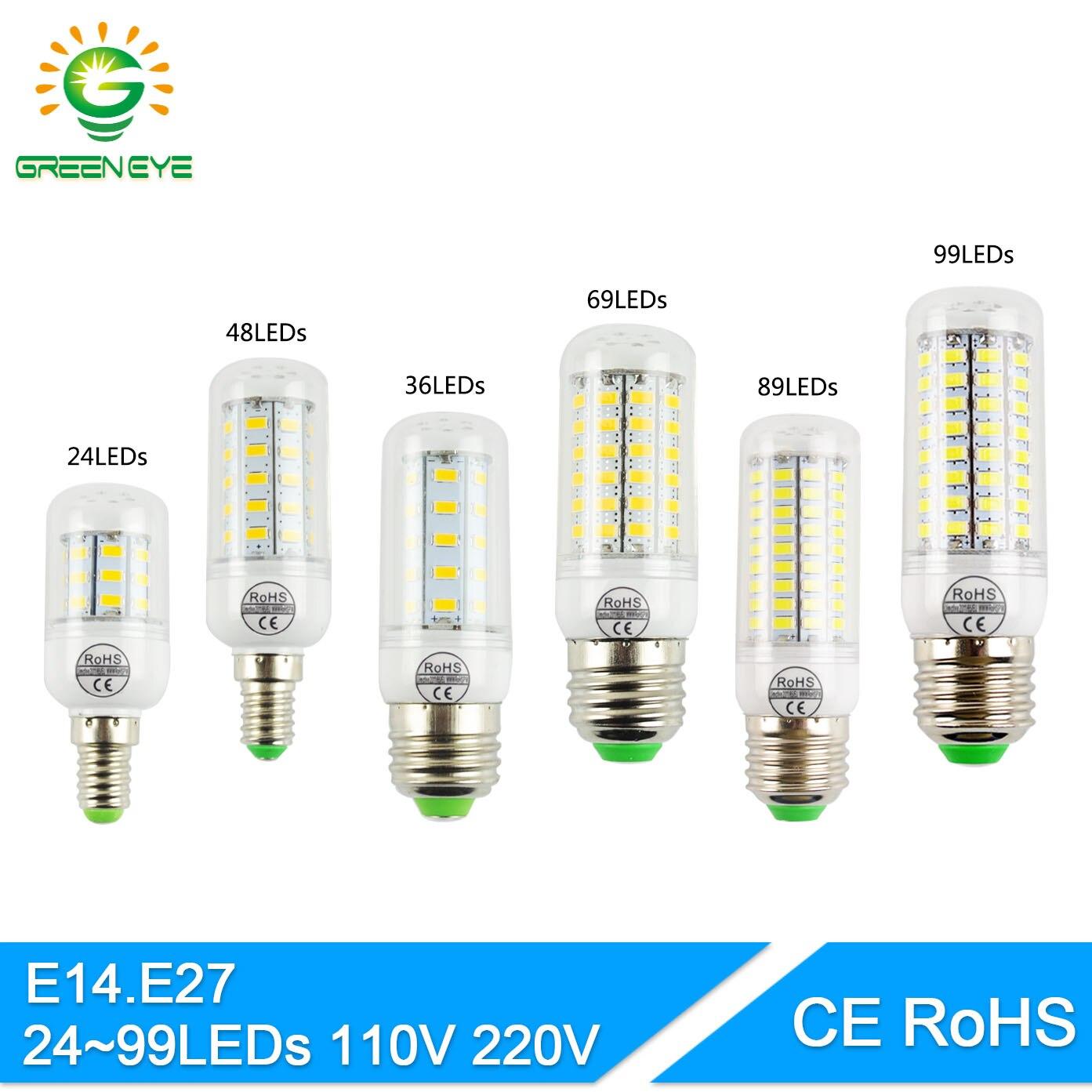 GreenEye-font-b-LED-b-font-Bulb-24-99leds-Lampada-font-b-led-b-font-E14 Verwunderlich Led Birnen Gu5 3 Dekorationen
