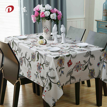 European Pastoral Tablecloth/ Floral Table Cloth Egyptian Cotton Table Cover Wedding Home Decoration Custom Made Toalha de Mesa(China)