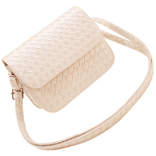 VSEN New Womens PU Leather Handbag Fashion Shoulder Bag Clutch Tote Purse Messenger(White)