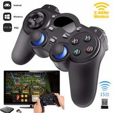 Wireless Game Controller Gamepad Joystick for PS3/PC/FOR XBOX360 for Android TV Box Tablets PC & 2 PCS AA Batteries(China)