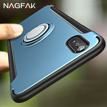 NAGFAK Luxury Shockproof Cases For iphone X Cover Case Metal Ring Holder Combo Phone Cover Cases For iphone X Cases