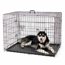 Universal Cage for Pet Wire Foldable Pet Crate Dog Cat Iron Cage Suitcase Exercise Playpen Pet Cage 4 Sizes High Quality(China)