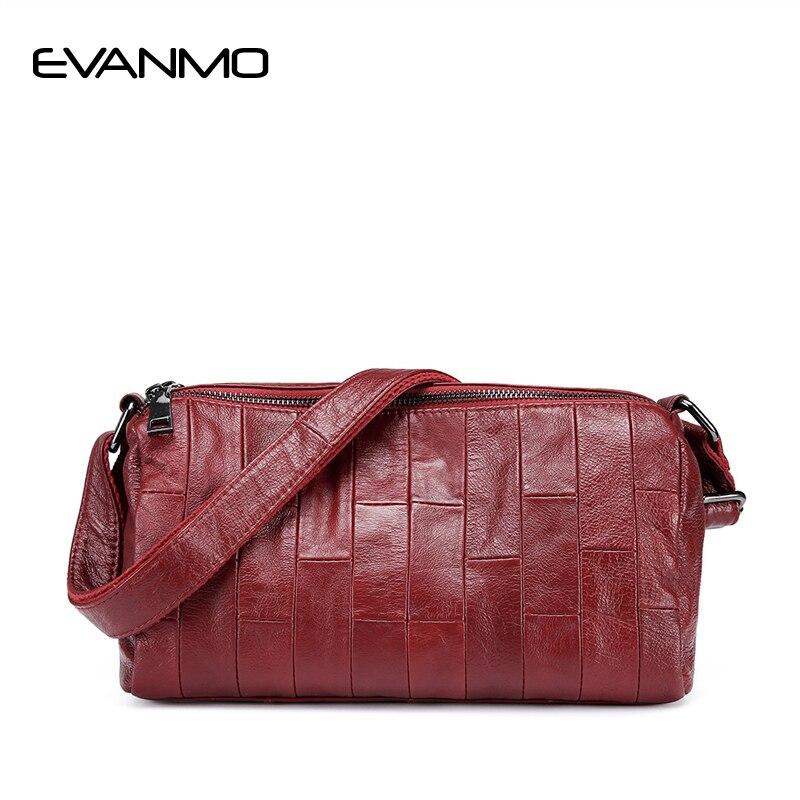 Women Soft Genuine Leather Messenger Bags Cow leather Daily Shoulder Bag Women Crossbody Bag Ladies High Quality Cowhide Handbag<br>