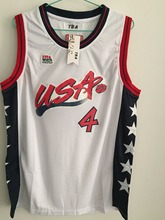 2017 New Charles Barkley #4 USA White Retro Throwback Stitched Basketball Jersey Sewn Camisa Embroidery Logos(China)