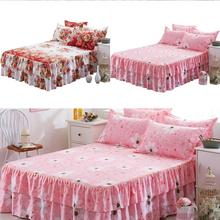 Bed-Sheet Single Bedspread Dust-Ruffle Quilt-Queen Leaves Flower-Pattern Thickened 150--200cm