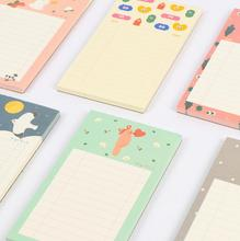 Fresh Forest Whisper Animals Mini Memo Pad Sticky Notes Shopping Check List Escolar Papelaria School Supply Post it Label