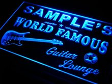 pf-tm Name Personalized Custom Guitar Band Room Bar Beer Neon Sign with On/Off Switch 7 Colors 4 Sizes(China)