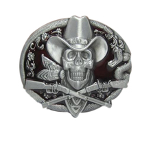 Fashion Women/Men/Girl/Boy skull belt buckle metal designer Diy jeans/shorts/dress/harem pants/skirt Cowboy shooter belt buckles(China)