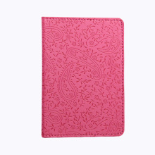 Ladies Floral Cover on the Passport Case for Women Pink Cute Girls Passport Case Casual Pu Leather case for pasport