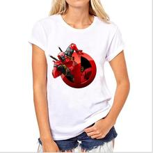 Speed to sell through Ebay ms blasting comic deadpool printing round collar T-shirt  two