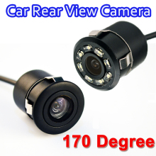 170 Degree Mini Waterproof Car Parking Assistance Reversing Rear View Camera HD CCD Image Sensor Rearview Camera free shipping