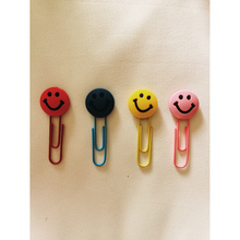 D17 3X Cute Smile Emoji Silicone Paper Clip Bookmark Marker of Page Student Stationery School Office Supply Deocr