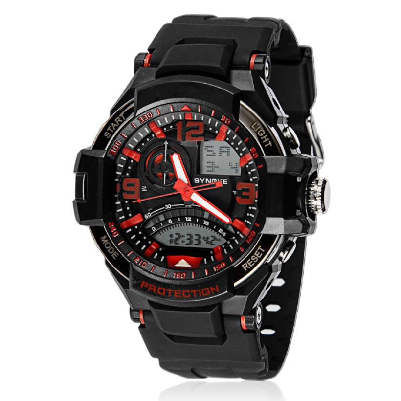 SYNOKE masculino Luxury Multi Function Military Digital LED Cool Men waterproof Watch Rubber Band Luminous display Watches<br><br>Aliexpress