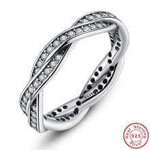Charming 2017 New Arrival 100% Authentic 925 Sterling Silver Ring Water Wave Inspiration Women Fine Jewelry Gifts