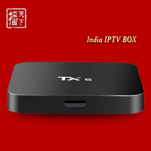 TX5 Smart TV Box Quad Core S905x 2G/8G Android 6.0 HD 4K  Support 24 Months free Indian Channels IPTV Set Top Box WIFI Blutooth