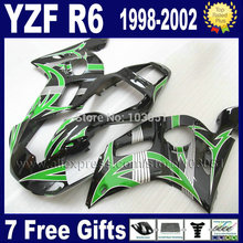 motorcycle Custom free fairings kit for YAMAHA YZFR6 1998 1999 2000 2001 2002  02 01 00 99 98 YZF R6 body fairing 7 gifts