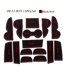 For Hyundai IX35 2009-12 2013-15 Anti Slip Rubber Mats Auto Motive Interior Car Parts Door Pad Carpets Gate Slot Car Styling