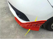 Red Front&rear Lips Bumper Diffuser Molding Protector For Honda Civic 10th Gen 4dr Sedan 2016 2017