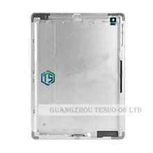 DHL! Silver Rear Battery Door For Ipad 3 Housing Back Cover Case replacement part back cover WIFI 3G Version +Logo 10pcs