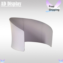 High Quality Exhibition Booth Semi-Circle Shape Portable Tension Fabric Advertising Display Stand With White Banner