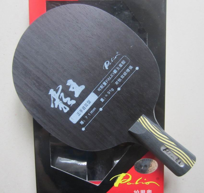 Original Palio overlord double carbon double titanium table tennis blade strengthen offensive, forehand off<br>