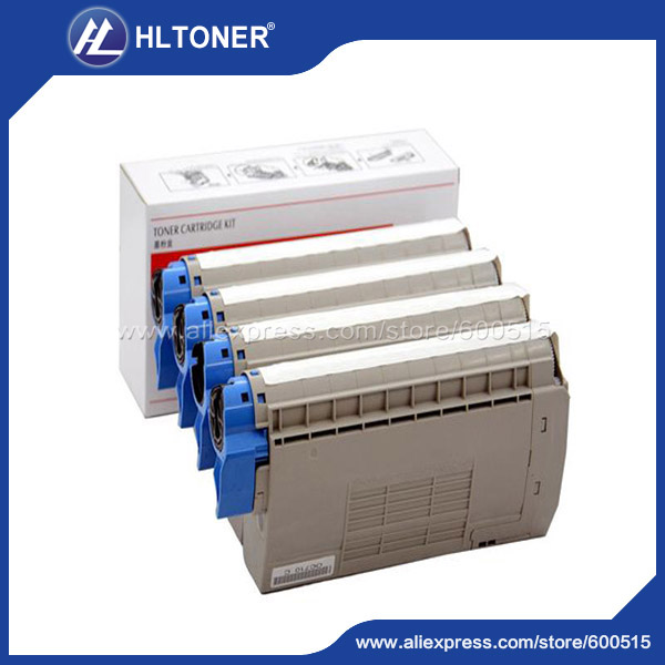 4pcs/set Remanufactured toner cartridge (44318617 44318618 44318619 44318620) for OKI ES3032a4 ES7411<br><br>Aliexpress