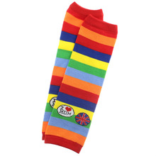 christmas Rainbow baby leg warmers sock girls infant boys kids knee pad stocking tights toddlers striped child love mom(China)